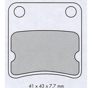 Bremsekloss sett for lett Mc / scooter bilde 1